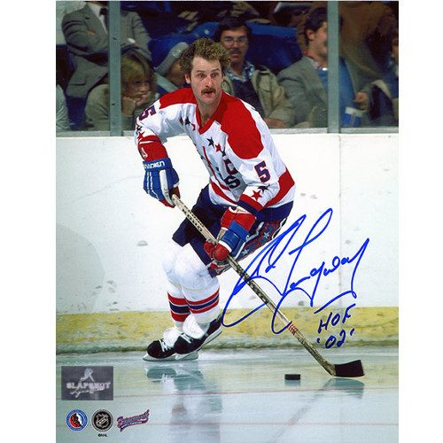 Rod Langway Autographed Photo-Washington Capitals Home Ice 8x10 Photo