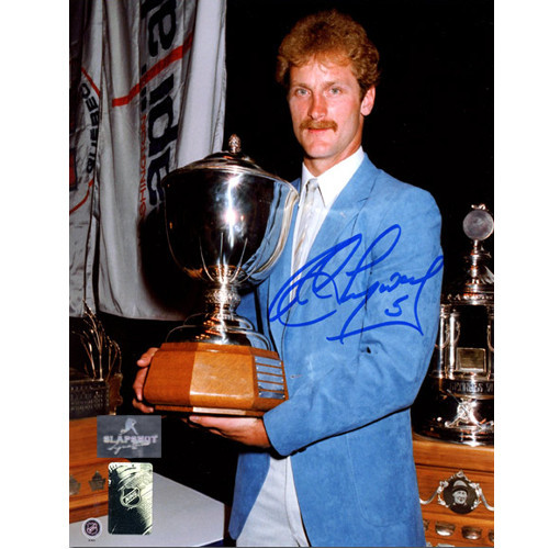 Rod Langway Signed Photo-Washington Capitals Norris Trophy 8x10 Photo