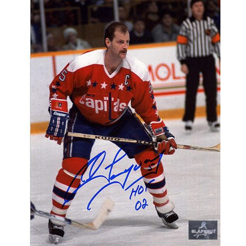 Rod Langway Washington Capitals Signed 8x10 Photo