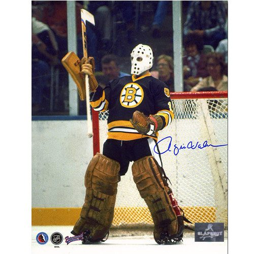 Rogie Vachon Boston Bruins Signed Hockey Goalie 8x10 Photo