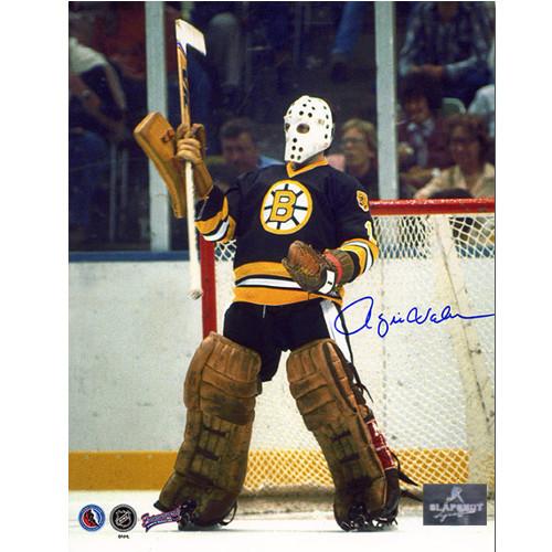 Rogie Vachon Boston Bruins Signed Hockey Goalie 8x10 Photo