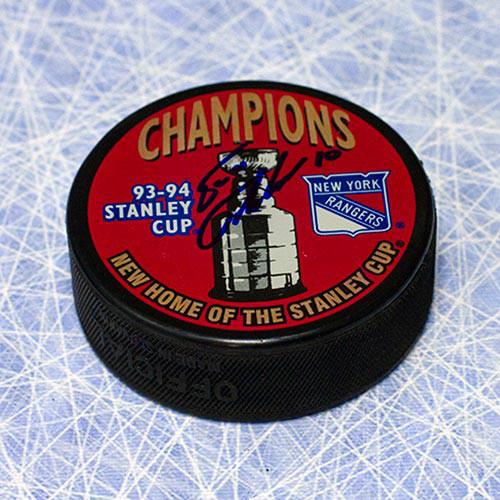 Esa Tikkanen Autographed Puck-New York Rangers 1994 Stanley Cup Puck
