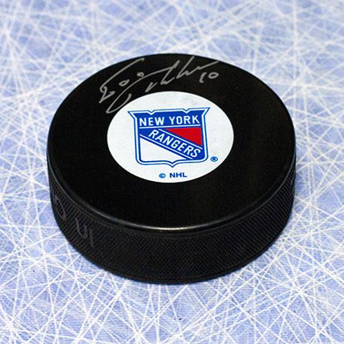 Esa Tikkanen Autographed Puck-New York Rangers Hockey Puck