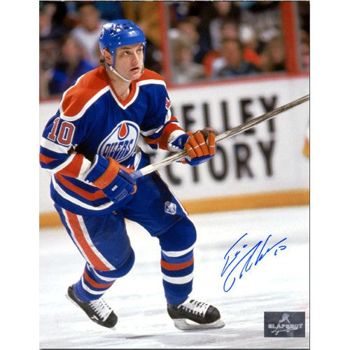 Esa Tikkanen Edmonton Oilers Autographed Hockey Action 8x10 Photo