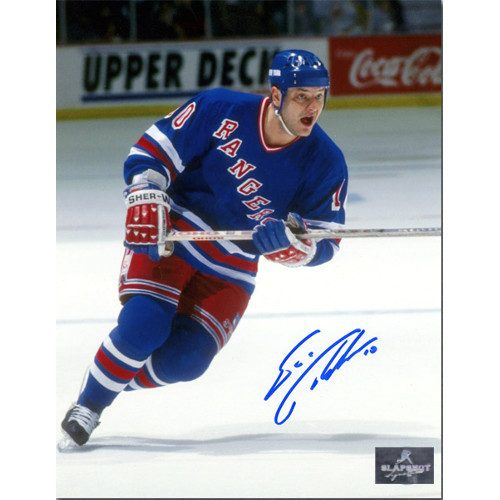 Esa Tikkanen New York Rangers Autographed Action 8x10 Photo