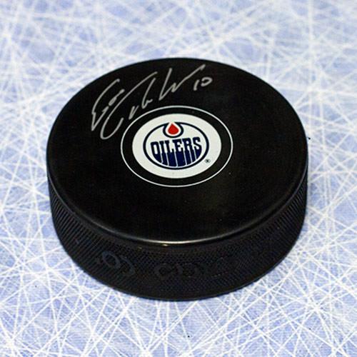 Esa Tikkanen Signed Puck-Edmonton Oilers Hockey Puck