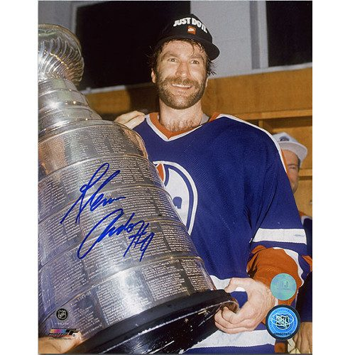 Glenn Anderson Stanley Cup Signed 8x10 Photo Edmonton Oilers