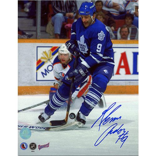 Glenn Anderson Toronto Maple Leafs Autographed Action 8x10 Photo
