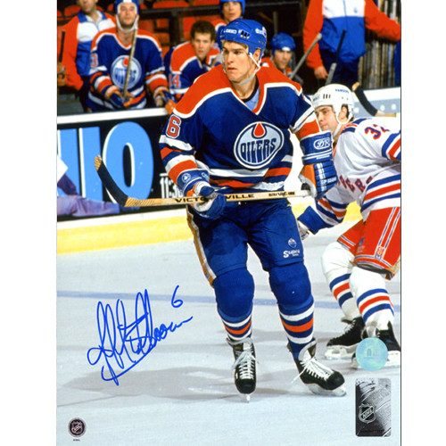 Jeff Beukeboom Edmonton Oilers Autographed Game Action 8x10 Photo