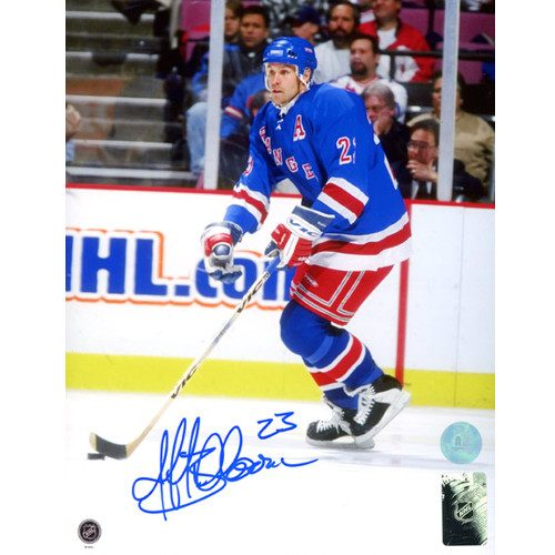 Jeff Beukeboom New York Rangers Autographed Game Action 8x10 Photo