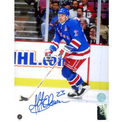 Jeff Beukeboom New York Rangers Autographed Game Action 8x10 Photo