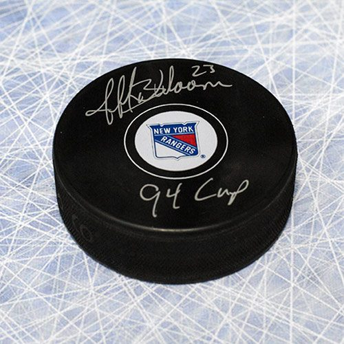 Jeff Beukeboom New York Rangers Autographed Hockey Puck w/ 94 Cup Note