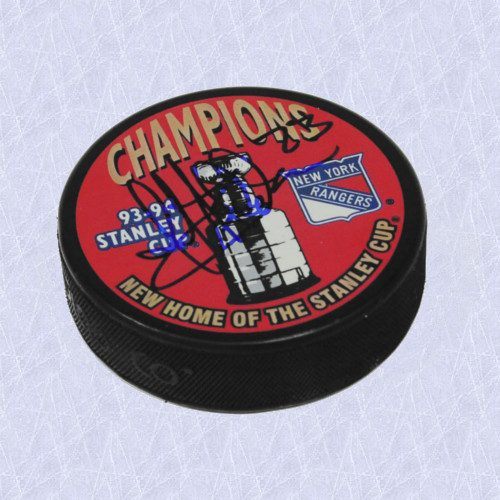 Jeff Beukeboom Stanley Cup Signed Puck New York Rangers 1994