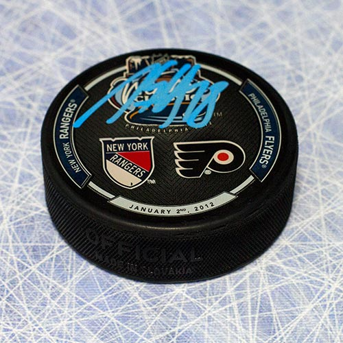 Marc Staal New York Rangers Autographed 2012 Winter Classic Hockey Puck