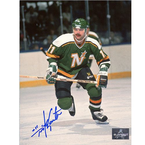 Mike Gartner Minnesota North Stars Autographed Skating Action 8x10 Photo