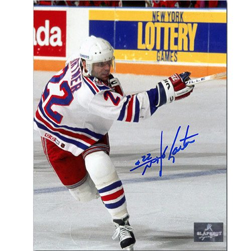 Mike Gartner New York Rangers Autographed Shooting 8x10 Photo