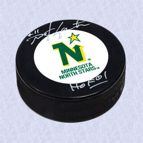 Mike Gartner Signed Puck-Minnesota North Stars Hockey Puck w/ HOF Inscription