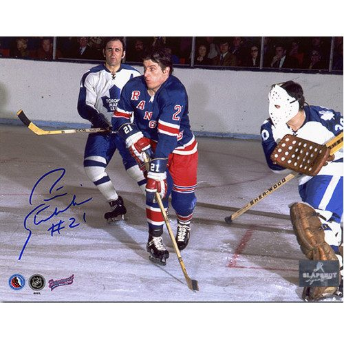 Pete Stemkowski New York Rangers Autographed Action 8x10 Photo