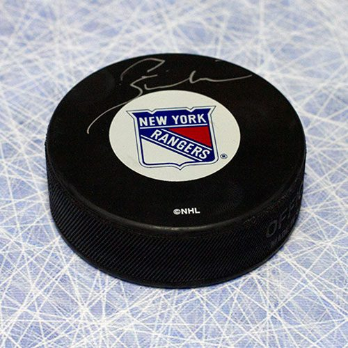 Pete Stemkowski New York Rangers Autographed Hockey Puck