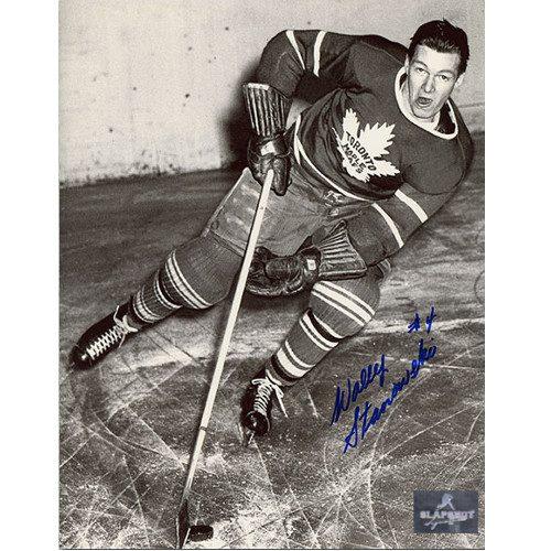 Wally Stanowski Toronto Maple Leafs Autographed On Ice 8x10 Photo