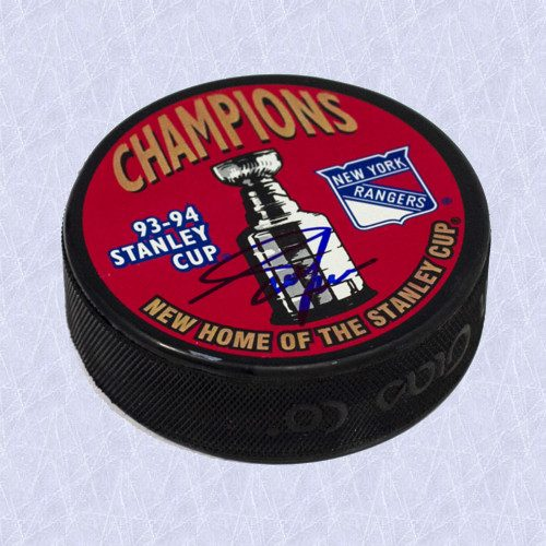 Adam Graves Autographed 1994 Stanley Cup Puck-New York Rangers