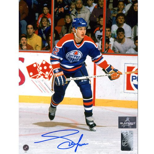 Adam Graves Edmonton Oilers Autographed Game Action 8x10 Photo