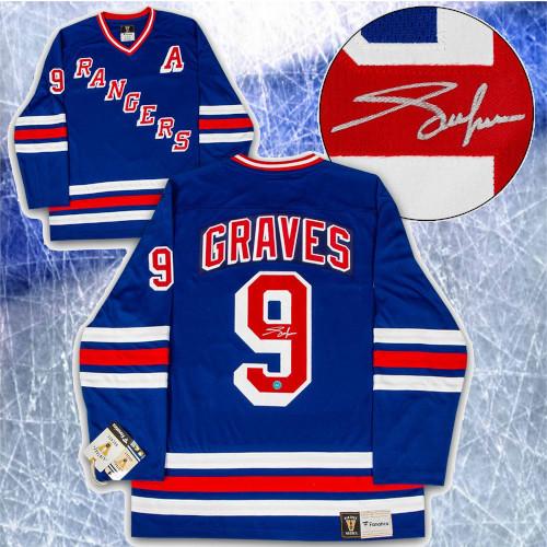 Adam Graves New York Rangers Signed Fanatics Vintage Hockey Jersey