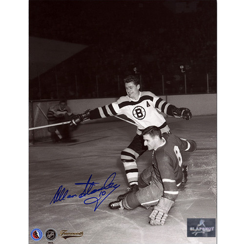 Allan Stanley Boston Bruins Autographed Original Six Action 8x10 Photo