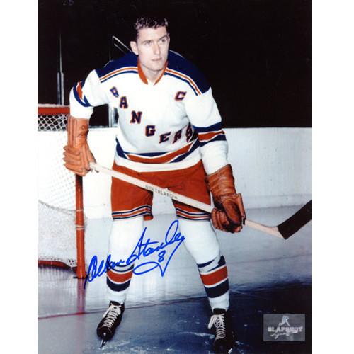 Allan Stanley New York Rangers Autographed Captain 8x10 Photo