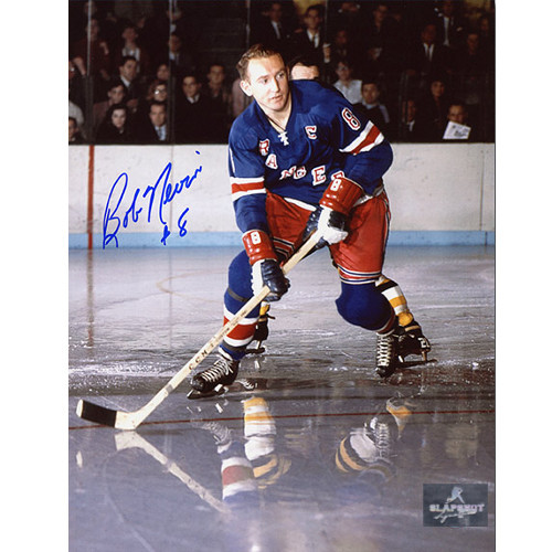 Bob Nevin New York Rangers Autographed Action 8x10 Photo