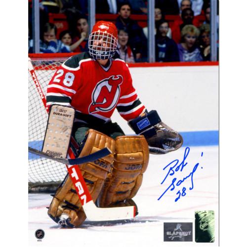 Bob Sauve New Jersey Devils Autographed Goalie 8x10 Photo