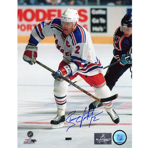 Brian Leetch Captain New York Rangers Autographed 8x10 Photo