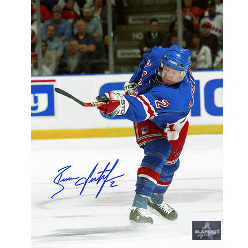 Brian Leetch New York Rangers Autographed Slapshot 8x10 Photo