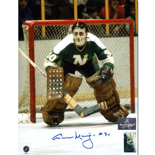 Cesare Maniago Minnesota North Stars Autographed Goalie 8x10 Photo