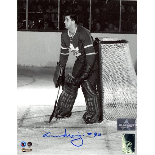 Cesare Maniago Toronto Maple Leafs Autographed Goalie 8x10 Photo