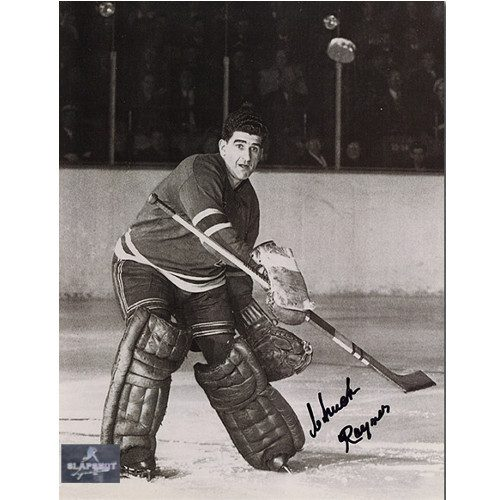 Chuck Rayner Goalie Action New York Rangers Autographed 8x10 Photo