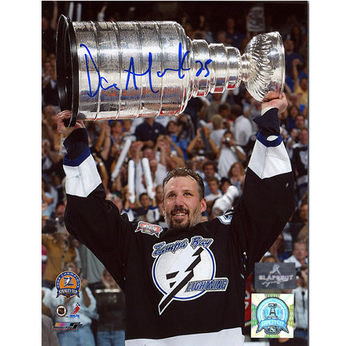 Dave Andreychuk Stanley Cup 2004 Tampa Bay Lightning Signed 8x10 Photo