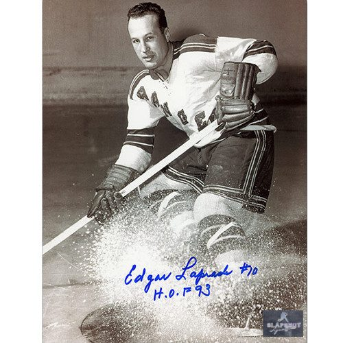 Edgar Laprade New York Rangers Autographed 8x10 Photo