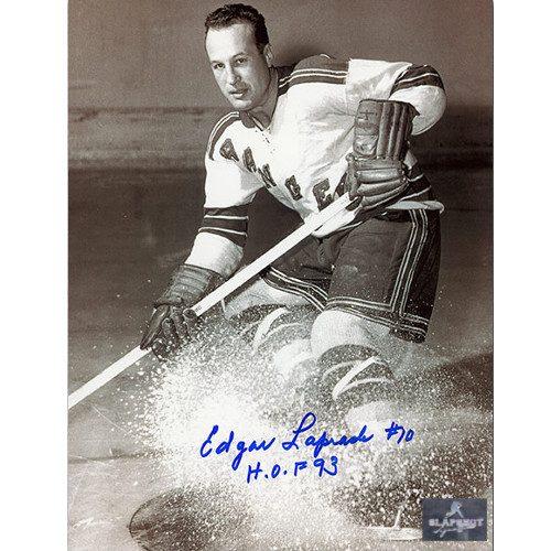 Edgar Laprade New York Rangers Autographed 8x10 Photo