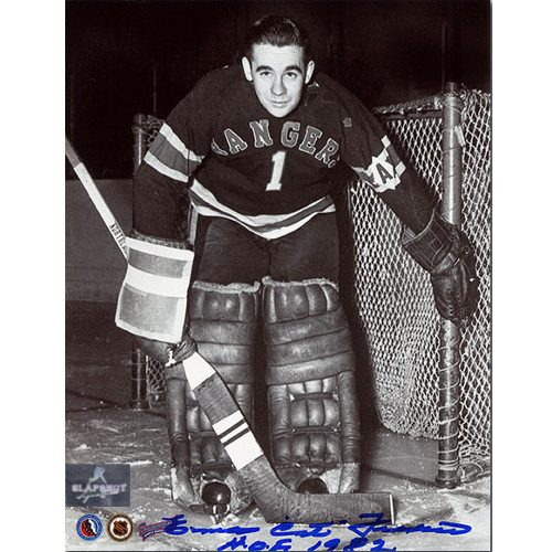 Emile Francis New York Rangers Autographed Goalie 8x10 Photo