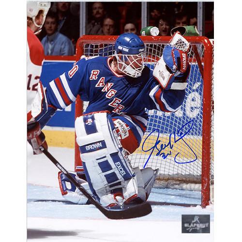 Glenn Healy New York Rangers Autographed Glove Save 8x10 Photo