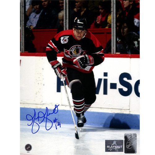 Greg Gilbert Chicago Blackhawks Autographed Hockey 8x10 Photo