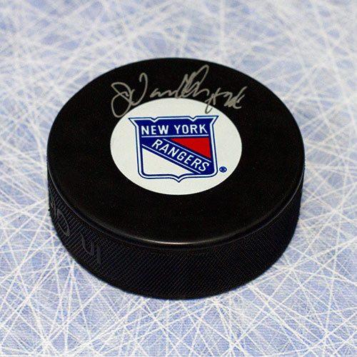 John Vanbiesbrouck Autographed Puck-New York Rangers Hockey Puck