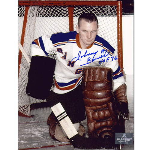 Johnny Bower New York Rangers Autographed 8x10 Photo