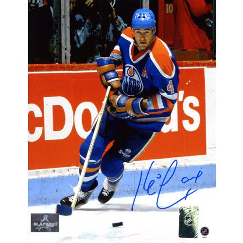 Kevin Lowe Oilers Autographed Action 8x10 Photo