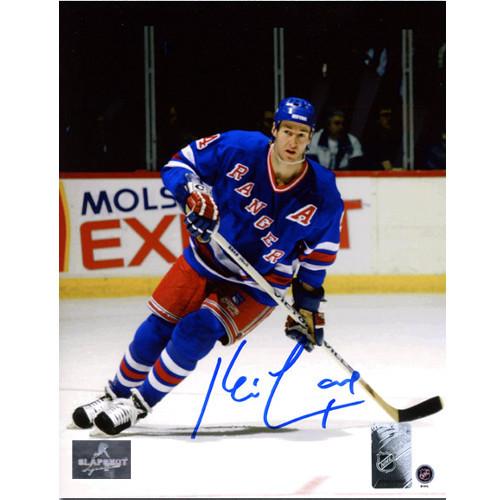 Kevin Lowe Rangers Autographed Action 8x10 Photo