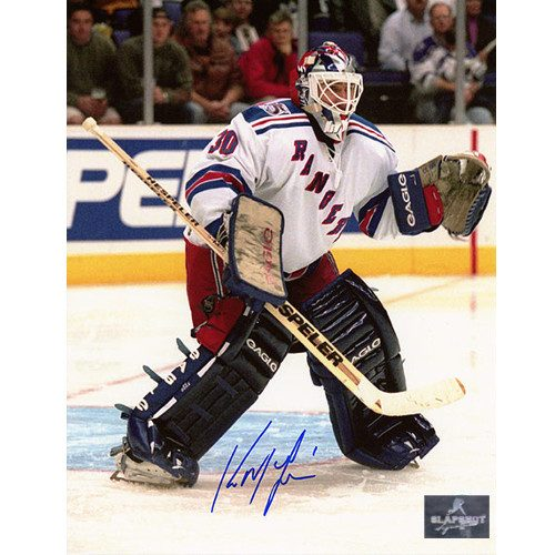 Kirk McLean New York Rangers Autographed Goalie 8x10 Photo
