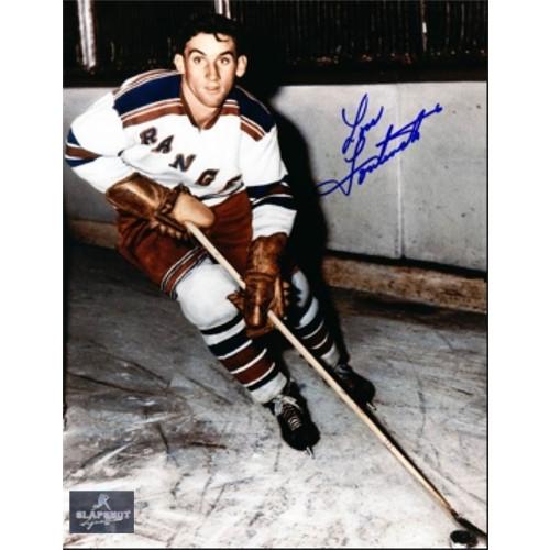 Lou Fontinato New York Rangers Autographed On Ice 8x10 Photo