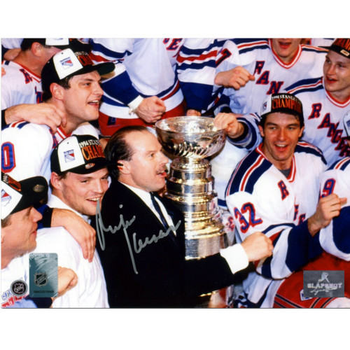Mike Keenan New York Rangers Autographed Stanley Cup 8x10 Photo