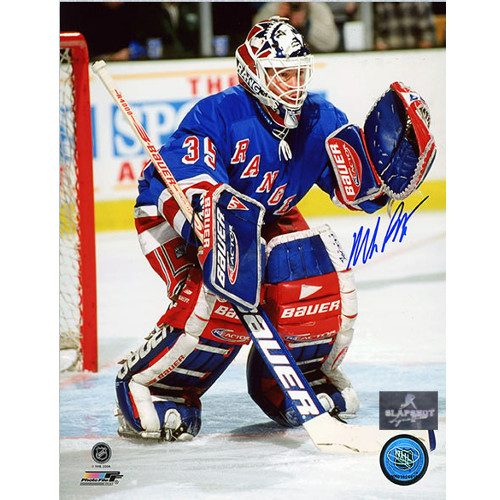 Mike Richter Autographed Photo-New York Rangers Action 8x10 Photo